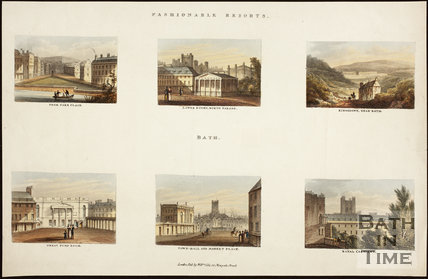6 Views of Fashionable Resorts, Bath c.1827