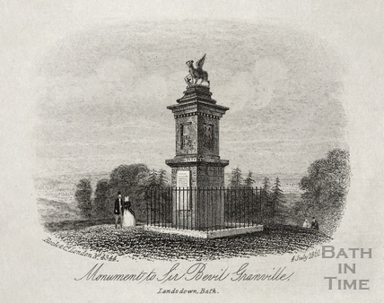 Monument to Sir Bevil Granville, on Lansdown Hill 1861