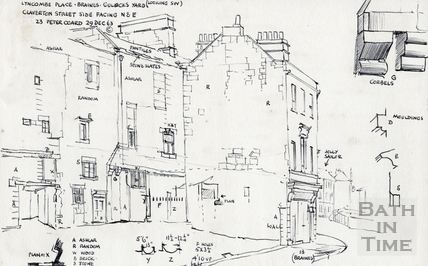 Lyncombe Place, Claverton Street, Bath 29 Dec 1963