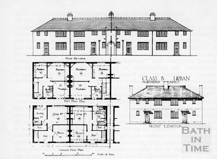 Social Housing Plans 1919 by 18359 at Bath in Time