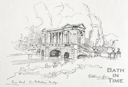 Prior Park, the Palladian Bridge 1927