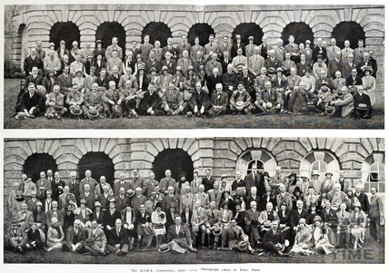 The R.I.B.A. Conference. Group photograph taken at Prior Park 1928