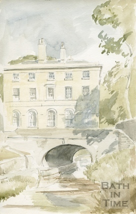 Cleveland House and Kennet and Avon Canal, Bathwick, Bath