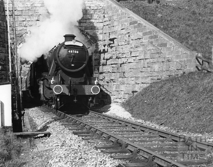 48706 Great Western Society Special on the Templecombe Lower section of the Somerset & Dorset Railway, March 5th, 1966