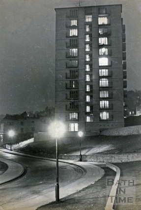 The twelve story Berkley House in Snow Hill c.1960