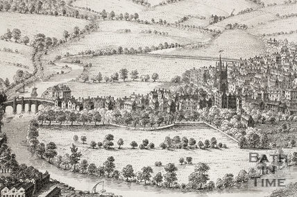 The South East Prospect of the City of Bath 1734 - detail