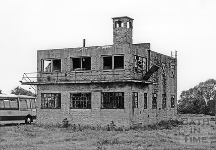 The remains of the Control Tower, Charmy Down airfield, near Bath, July 1993