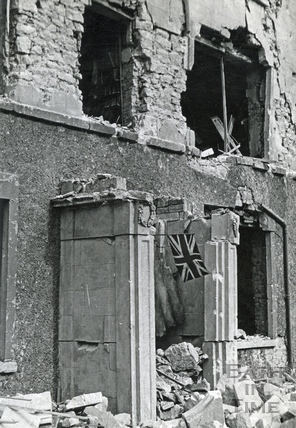Flying the flag after the Bath Blitz in April 1942