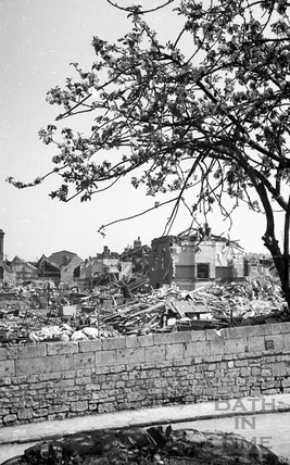 A blitzed area of Bath May 1942