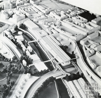 General view of the south west and south east quadrant from the north 1966