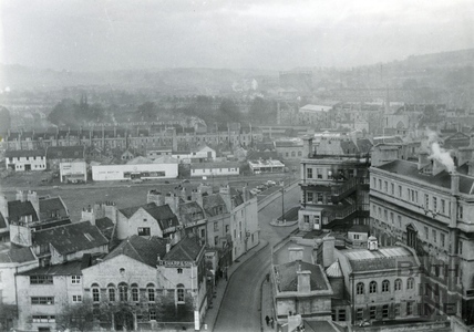 View towards Avon Street and Milk Street c.1955