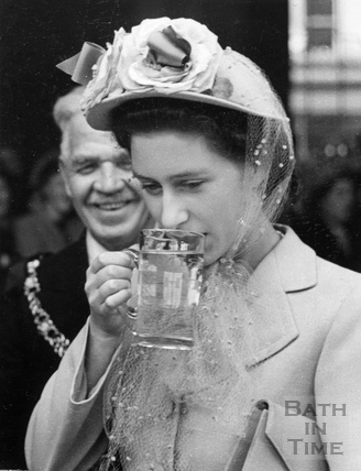 Princess Margaret taking the waters, 1 May 1948