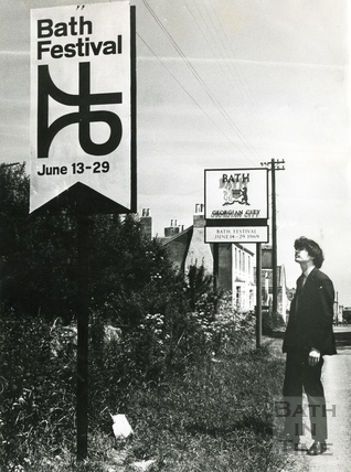 Signs welcomed visitors to Bath during the Festival of 1969