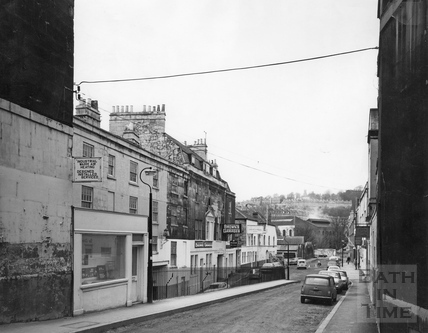 Looking down Grove Street before the development on the left c.1975