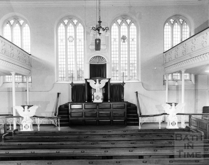 The interior of the United Reformed Church, Feb 1983