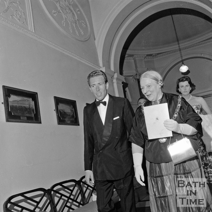 Lord Snowdon and Mayor Mrs. Guielma Maw in the Guildhall, June 1962