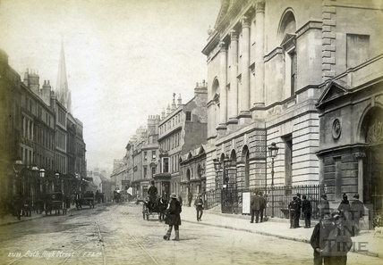 High Street, showing the Guildhall Market and White Lion Hotel c.1890