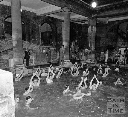 Aerobics in the Roman Great Bath 3 June 1971
