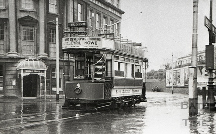 Tram no 4 outside the Royal Hotel, Manvers Street c.1930s