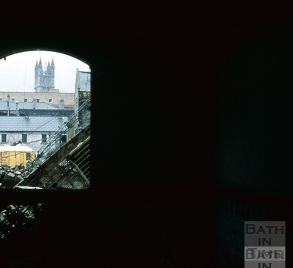 Southgate, Bath, North demolition through arch, Hooper & Dark 18 October 1971