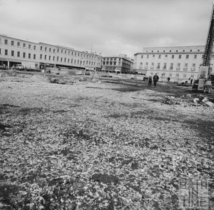 The Southgate development site - cleared, March 1972