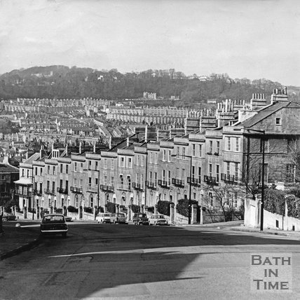 Dunsford Place, Bathwick Hill, March 1972