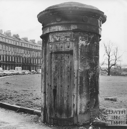 Watchman's sentry box, Norfolk Crescent, March 1972