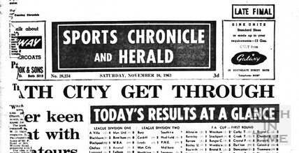 Sports Chronicle and Herald Nov 16 1963