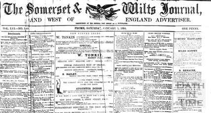 The Somerset & Wilts Journal and West of England Advertiser, Frome Jan 5 1884