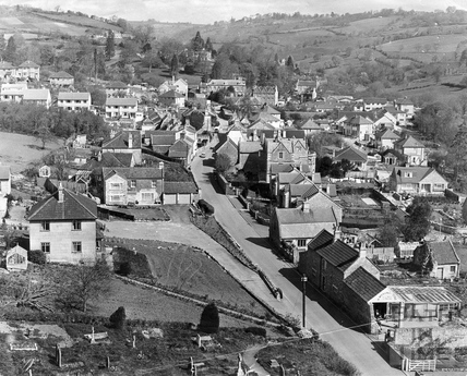 View of Northend, Batheaston from the top of the church tower 28 Oct 1969