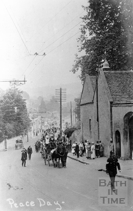 Peace Day Celebration, Batheaston April 1918