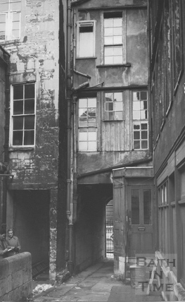 Peter and Ruth Coard surveying 24 High Street, Bath 1st Jan 1964