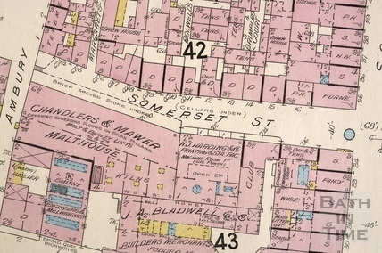 Somerset Street, Goad map 1902 - detail