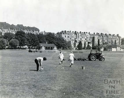 Clearing the Recreation Ground c.1966