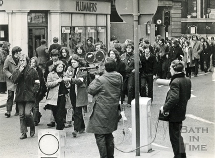 Students marching the streets in March 1970