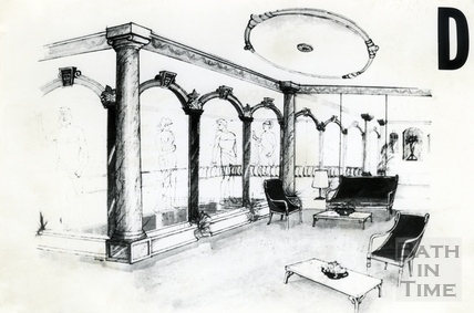 Artists impression of the interior of the Roman Pool in the redeveloped Beau Street Bath Sept 1988