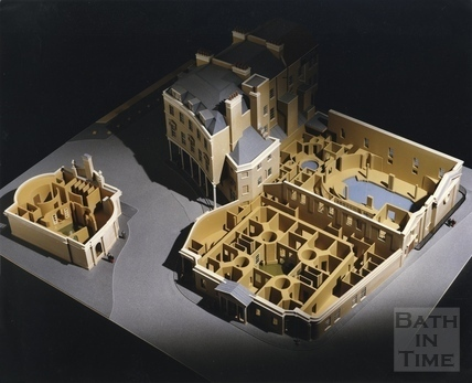 Model of old plans for Bath spa re-developments c.1989