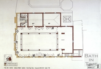 The Spa Baths - Beau Street Baths - First Floor Plan c.1989