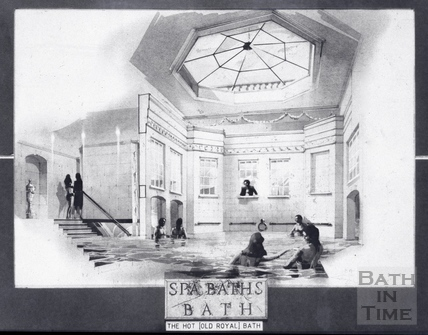 Interior of the proposed restored Hot (Royal) Baths 28 May 1993