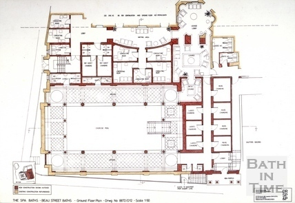The Spa Baths - Beau Street Baths - Ground Floor Plan c.1989