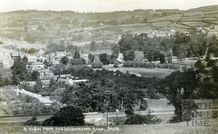 A view from the Warminster Road, Bath c.1930s