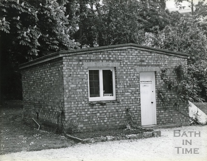 The tea house at the Holburne Museum before renovation, 26 Oct 1984