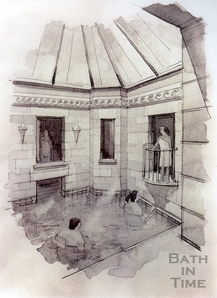 Artists impression of the restored Hot Bath, 7 Dec 1993