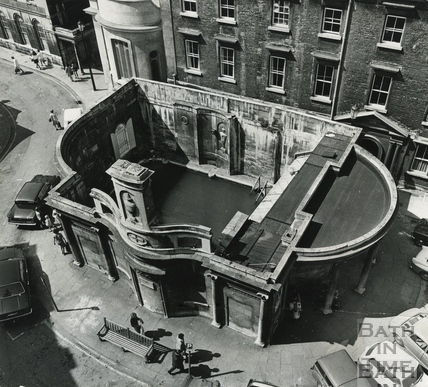 Looking down onto the Cross Bath, May 1971