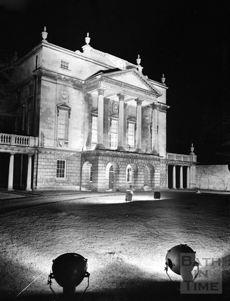 The Holburne Museum floodlit c.1957