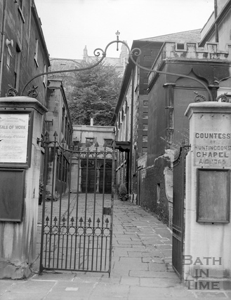 Entrance to the Countess of Huntingdon's Chapel 5 October 1957