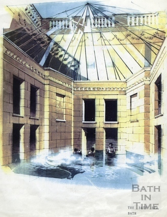 Artists impression of the redeveloped Hot Baths, 16 Nov 1988