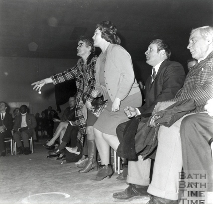 Audience watching wrestling in the Pavilion, March 1971