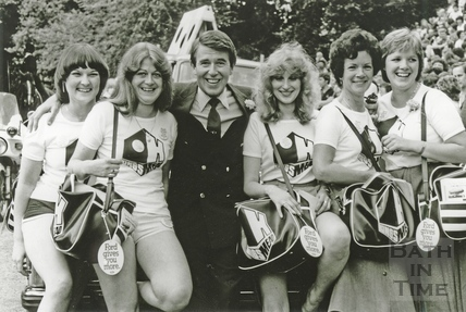 Leslie Crowther at Bath's Carnival, July 1981