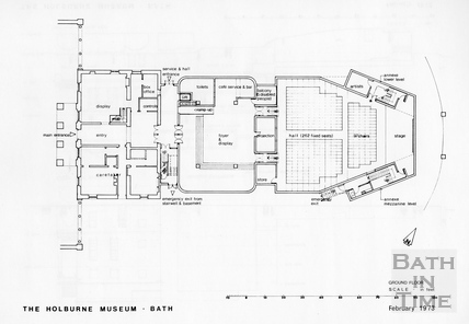 Ground Floor Plan of the proposed extension to the Holburne Museum, February 1973